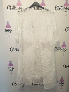 Ladies Summer Cardigan With Lace knee Length Beautiful Detail Sale Now On