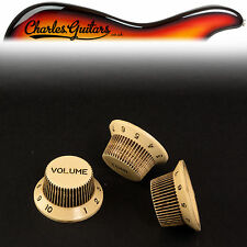 ART OF AGING SET OF CREME SMALL NUMBERS AGED RELIC STRAT STYLE KNOBS (AA31054)