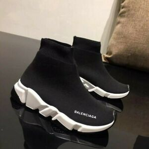 UKChildren boys girls Designer Style Knit Speed Sock Runner Trainers Sneakers