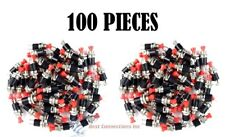 100 pcs Mini Push Button SPST Momentary N/O Switch Red 2 Pins 100 Pack NB-602