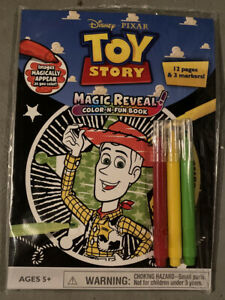 Disney Pixar Toy Story Magic Reveal Color N Fun Book With Markers  MIP