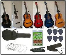 Pack Guitare Classique 4/4 pour Adulte + 6 Accessoires ! Neuf et Garantie !