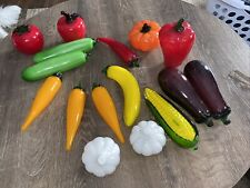 Murano Italian Hand Blown Glass Fruit and Vegetables16 Pieces