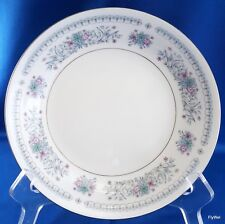 """Crown Ming Harmony Verge Coupe Soup Bowl 7.5"""" Blue Pink Floral w Platinum"""