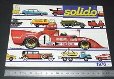 CATALOGUE SOLIDO 1976 DIE-CAST METAL CUSTOM AGE D'OR TONERGAM MILITAIRE COFFRETS