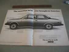 Vintage 1976 FIAT 131 Double page Ad
