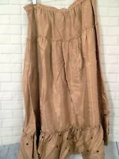 Mossimo Size L Rayon Long Ruffled Skirt Elastic Waist