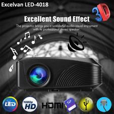 3D 1200LUMEN 1080P FHD MULTIMEDIALE LED PROIETTORE HDMI/AV/VGA/USB Home Theater