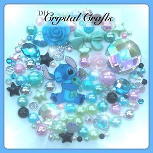 Disney Lilo And Stitch Theme Cabochon Gems & pearls Flatbacks For Deco crafts #1