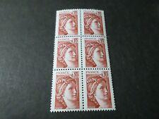 FRANCE 1978, timbre 1965, SABINE, BLOC, QUARTINA, neuf**, VF MNH STAMPS