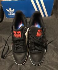 Adidas New Varial Low Skateboard Shoes Black/Solar Red/Bluebird  Mens Size 12