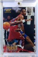 1996 96 Fleer Sprite Food Issue Base Allen Iverson Rookie RC #28, Rare, 76ers