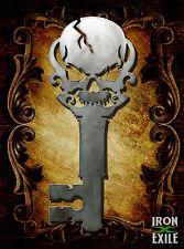 Skull Skeleton Key Metal Wall Art Sign Vintage Rustic Decor Plasma Laser Cut USA
