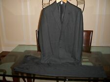 used BRIONI grey pinstriped suit size EU 52L US 42L 36 x 32 Italy $5495