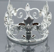 Mini Boy Crown for Newborn - Baby Photo Prop Silver Boy Crown Round 4064
