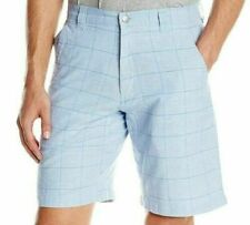 New Mountain Khakis Men's 30 X 10 Inch Boardwalk Short Bahama Blue Plaid Shorts