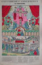 Rare Vintage Imagerie Epinal Pellerin print/Calvaire de Ste. Anne D'AurayINV2297