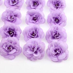 100X Simulated Artificial Silk Rose artificial flower head Wedding Bridal Decor
