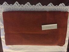 Belaire by Kassatex  luxury c 18 X 32 cinnamon burnt orange 100% cotton tub mat