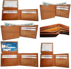 Lot of 6 New style leather man's wallets 2 suede lined billfolds Credit card ID