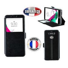 Etui Rabattable Simili Cuir Noir et Ouverture Ecran pour LG G6