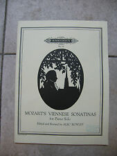 Spartito Di Mozart Sonatine Viennesi Pianoforte Solo Music Sheet