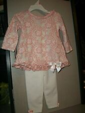 BONNIE JEAN BABY GIRL Easter  2-Piece Outfit 12 Months EUC!