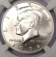 1998-S Kennedy Half Dollar 50C Coin - Certified NGC SP70 (MS70) - $550 Value!