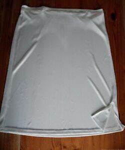 White slip Size 16 underskirt silky soft feel with slit to side Bnwot women's