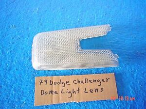 1978-1980 Dodge Challenger Overhead Console Dome Light Lens