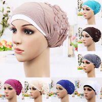 MusulmanStretch turban chapeau écharpe hijab casquette chimio cheveux perte tête