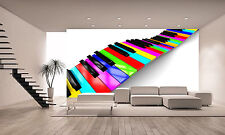 Colorful Piano Background Wall Mural Wallpaper GIANT WALL DECOR PAPER POSTER