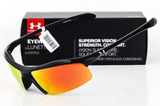 a523910d9e Under Armour Men s UA Zone Sunglasses Shiny Black Frame Orange Lens 8600010