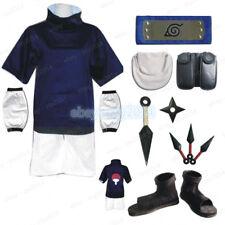 Young Uchiha Sasuke Cosplay Costume Naruto Mens Child Clothing Props X'mas Gift