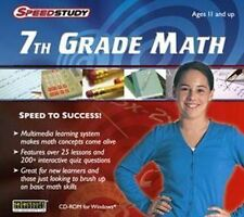 Speedstudy 7th Grade Math  Take the stress out of middle school math Win 7 8 NEW