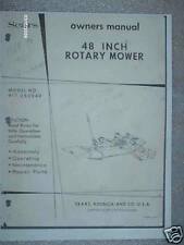 """917.253240-Sears Tractor-48"""" Rotary Mower Owners Manual on CD"""