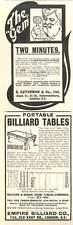 1905 Empire Billiard Old Kent Road S Guiterman Gem Safety Razor Vintage Ad