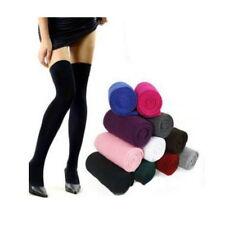 HOT Women's Girls Over The Knee Socks Thigh High Cotton Long Stockings Thinner