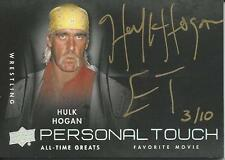 Hulk Hogan 2012 Upper Deck All-Time Greats Personal Touch Autographs Card #PTHH1