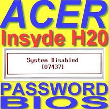 Acer Ordinateur portable Master password mot de passe de supprimer BIOS unlock remove service