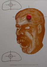 Bleeding Zombie Head Targets - 10x14 - 30 Qty (View Footage)