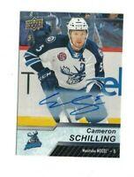 Cameron Schilling 2018-19 18-19 Upper Deck AHL AUTO Card #77 MOOSE