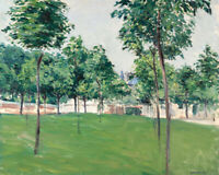 Promenade Of Argenteuil Gustave Caillebotte Painting Print Canvas Wall Art Small