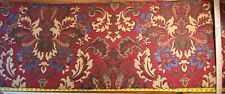 0.5Y SCALAMANDRE NAVARO TAPESTRY WOOL MULTI n RED THICK! MSRP$596/Y