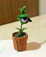 MINIATURE DOLLHOUSE HALLOWEEN HAUNTED MAN EATING PLANT - SHOP OF HORRORS STYLE