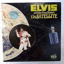 Elvis Aloha From Hawaii Via Satellite EX Vinyl TESTED Quad 2Lp GF Die Cut 1973