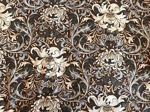 Jonelle Fabric Medway William Morris Conker Brown&Light Blue Cotton FQ 56x51cm