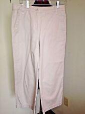 EILEEN FISHER Cream - Organic Cotton  Cropped Wide  Leg Pants - XS