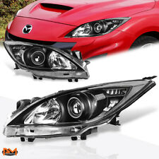 For 10-13 Mazda 3 Projector Headlight/Lamp Replacement Black Housing Clear Side