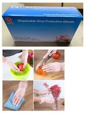 (10 x 100) 1000Pieces 500 Pairs Vinyl Disposable Gloves Latex Free Powder Free